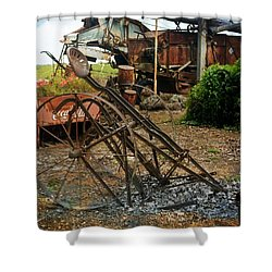 Shower Curtain featuring the photograph Old Style Farming by Marty Koch