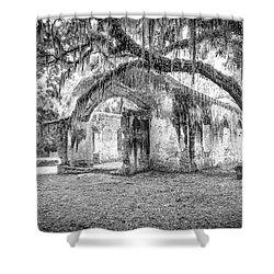 Old Tabby Church Shower Curtain by Scott Hansen