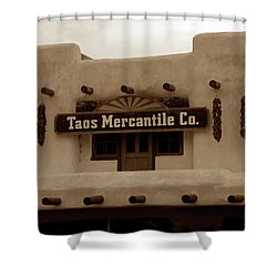 Old Taos Shower Curtain by David Lee Thompson