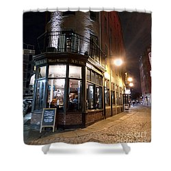 Old Tavern Boston Shower Curtain by Haleh Mahbod