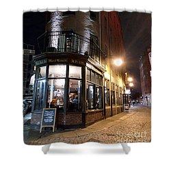 Old Tavern Boston Shower Curtain