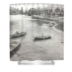 Old Time Camp Days Shower Curtain