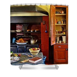 Old Time Kitchen Shower Curtain by Mikki Cucuzzo