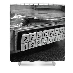 Old Time Rock And Roll Shower Curtain by John S