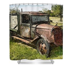 Old Timer Shower Curtain by Murphy Elliott