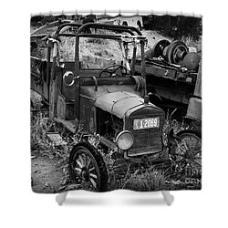 Old Times 2 Shower Curtain by Perry Webster