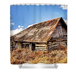 Old Times Shower Curtain