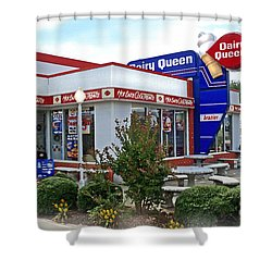 Old Timey Dairy Queen Shower Curtain