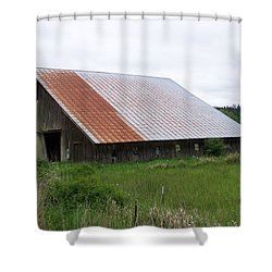 Old Tin Roof Barn Washington State Shower Curtain by Laurie Kidd