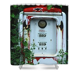 6g1 Old Tokheim Gas Pump Shower Curtain