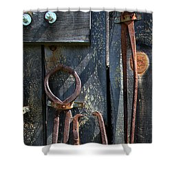 Shower Curtain featuring the photograph Old Tools by Joanne Coyle