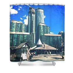 Mass Gentrification Shower Curtain