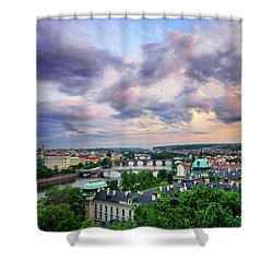 Old Town And Charles Bridge, Prague, Czech Republic Shower Curtain