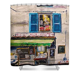 Old Town Cafe Shower Curtain by John Williams