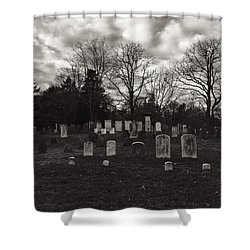 Old Town Cemetery , Sandwich Massachusetts  Shower Curtain