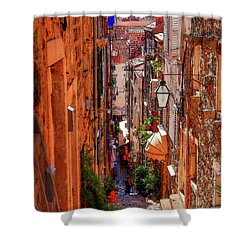 Old Town Dubrovniks Inner Passages Shower Curtain