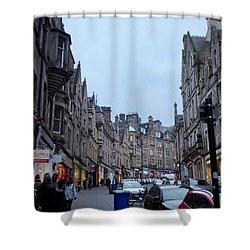 Old Town Edinburgh Shower Curtain by Margaret Brooks