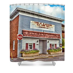 Old Town Hall Blacksburg Virginia Est 1798 Shower Curtain