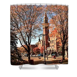 Old Town Hall In The Fall Shower Curtain