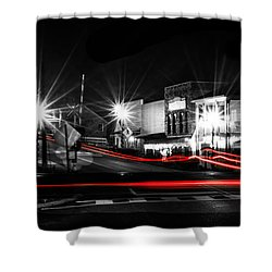 Old Town Helena At Night Shower Curtain by Shelby  Young