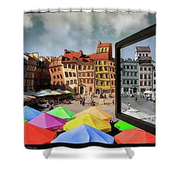 Old Town In Warsaw #13a Shower Curtain