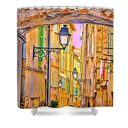 Old Town Nizza, Southern France Shower Curtain