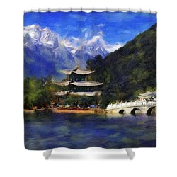 Old Town Of Lijiang Shower Curtain
