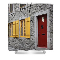 Old Town Quebec Shower Curtain