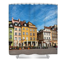 Shower Curtain featuring the photograph Old Town Warsaw by Chevy Fleet