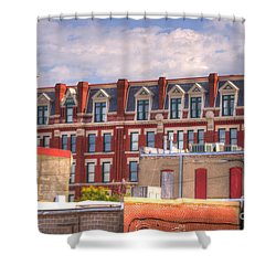 Old Town Wichita Kansas Shower Curtain by Juli Scalzi