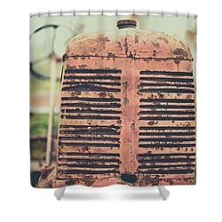 Shower Curtain featuring the photograph Old Tractor Vintage Look by Edward Fielding