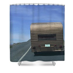 Old Trailer Shower Curtain