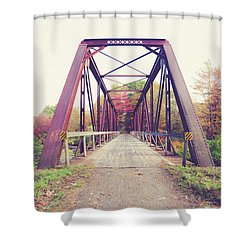 Shower Curtain featuring the photograph Old Train Bridge Newport New Hampshire by Edward Fielding