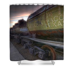 Old Train - Galveston, Tx 2 Shower Curtain