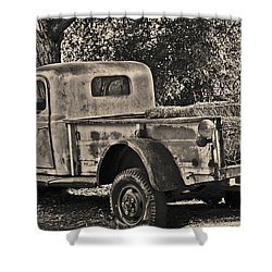 Shower Curtain featuring the photograph Old Truck by Frank Stallone