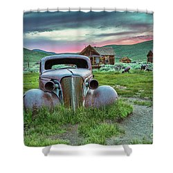 Old Truck In Bodie Shower Curtain