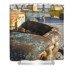 Old Truck In The Beach Shower Curtain