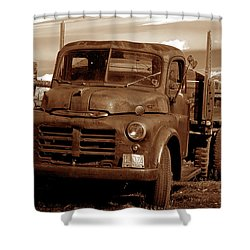 Shower Curtain featuring the photograph Old Truck by Norman Hall