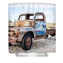 Shower Curtain featuring the photograph Old Truck by Silvia Bruno