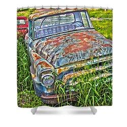 Old Trucks Shower Curtain