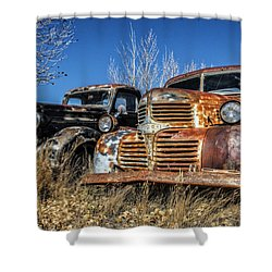 Old Trucks Shower Curtain