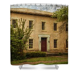 Old Tuscaloosa Jail Shower Curtain by Phillip Burrow