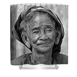 Old Vietnamese Woman Shower Curtain