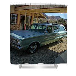 Old Wagon Shower Curtain by Robert Hebert