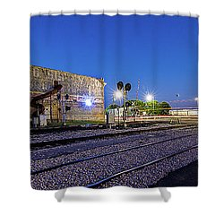 Old Wall Signage - San Antonio  Shower Curtain