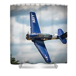 Old Warbird Trainer Shower Curtain