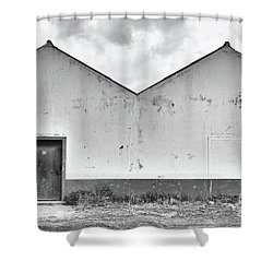 Old Warehouse Exterior Shower Curtain