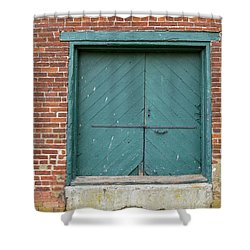 Old Warehouse Loading Door Shower Curtain