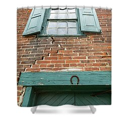 Old Warehouse Window And Lucky Door Shower Curtain
