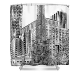Old Water Tower - Chicago Shower Curtain